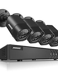 Annke® 1080n tvi h.264 4ch dvr 1500tvl 720p sistema de cámaras de seguridad in / outdoor ir n41r
