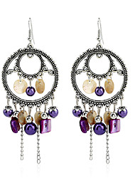 Crystal Imitation Pearl Dangle Earrings Jewelry Party Daily Casual Alloy 1 pair Silver