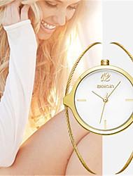 Модные часы Кварцевый сплав Группа С подвесками Люкс Золотистый
