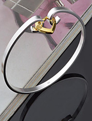 Women's Bangles Silver Plated Fashion Heart Heart Cut Silver Jewelry 1pc
