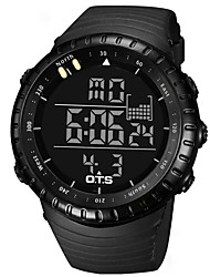 Men's Unisex Sport Watch Wrist watch Japanese Quartz Digital LED Water Resistant / Water Proof Stopwatch Noctilucent Plastic BandCasual