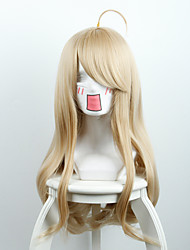New projectile on the broken V3 red pine maple yellow micro-roll long hair high-temperature wire wig