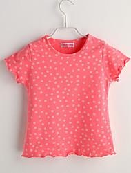 Tee-shirts bébé Imprimé Décontracté / Quotidien-Coton-Eté-Rose