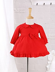 Baby Casual/Daily Solid Dress Cotton Spring/Autumn Dress