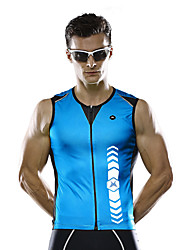 MYSENLAN® Cycling Vest Men's Sleeveless Bike Breathable Quick Dry Vest/Gilet Polyester Fashion Summer