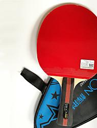 3 Звезд Настольный теннис Ракетки Дерево Короткая рукоятка Прыщи Выступление Практика Активный отдых
