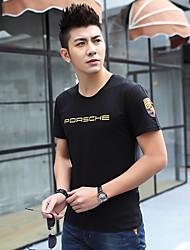 2017 Männer&# 39; s neue Sommer jugendlich Kurzhülse T-Shirt Druck koreanischer dünner runder Ansatz Gezeiten