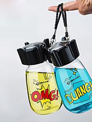 Прозрачный Стаканы, 400 ml Переносной Стекло Чайный Телесный Бутылки для воды