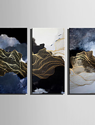 E-HOME Stretched Canvas Art Abstract Line Landscape Decoration Painting One Pcs