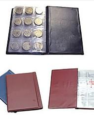 1pcs 120 pièces de monnaie poches d'argent de stockage de collecte de porteurs de penny album livre collecte couleur aléatoire
