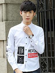 2017 Frühling Männer&# 39; s Langarm-Shirt Männer koreanische dünne Shirt-Druck-T-Shirt Schüler teen Zustrom
