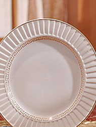 1 Pcs Ceramic Dinner Plate Dinnerware Blinds Plate