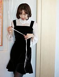 Ханя Guoguan сеть весной новый кружева рубашки жилет + рыбий хвост юбка костюм