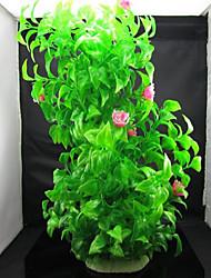 Оформление аквариума Водное растение Нетоксично и без вкуса Пластик Зеленый
