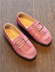 Extérieure Habillé Décontracté-Noir Rose Rouge-Talon Bas-Confort Flower Girl Chaussures-Ballerines-Cuir Verni