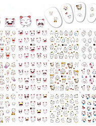 1pcs 12 Design New Lovely Nail Art Sticker Cute Cartoon Expression Design Nail Beauty Tips Water Transfer Decals Nail Art Design A1357-1368