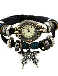 Unisex Fashion Watch Quartz Leather Band Black