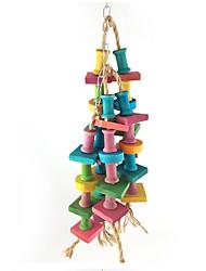 Bird Toys Wood Random Colors