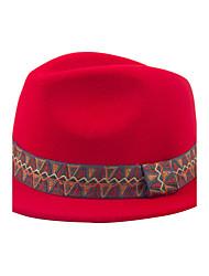 les femmes d » couleurs unies décontractée style britannique bohème cachemire laine jazz petit chapeau