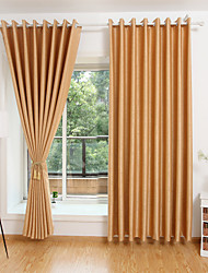 Two Panels Curtain Modern , Geometic Living Room Polyester Material Blackout Curtains Drapes Home Decoration For Window