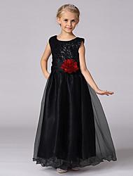 Vestido de princesa vestido de flor de princesa - Vestido de cetim de tul de cetim com lantejoulas
