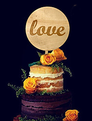 Cake Topper Non-personalized Classic Couple Wedding Flowers Black Classic Theme 1 Gift Box