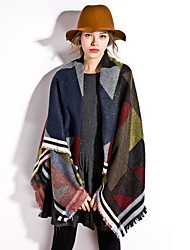 Wool Shawl Scarf Large Bohemia Women's Thickening Lengthening Scarves Long Rectangle Winter Warm Lady's Valentine Christmas Gift
