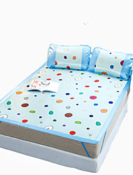 Yuxin®Printed Ice Silk Mats  Summer Mats  Air Conditioning Mats  Ice Mats*1 Pillowcase*2  Bedding Set