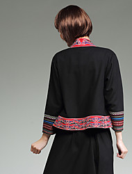 neue Frauen&# 39; s nationale Wind Stickerei Nähen Baumwolljacke