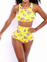 Women's Floral Print Swimwear Sexy Tank Top Tankini Bathing Suits