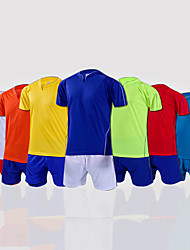 Men's Soccer Shirt+Shorts Clothing Sets/Suits Breathable Spring Summer Fall/Autumn Classic Fashion 100% Polyester Football/SoccerYellow