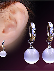Stud Earrings Opal Fashion Gold Plated Opal Circle Jewelry For Wedding Party Daily Casual 1 pair