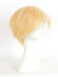 Blonde Color Synthetic Wigs For Women Heat Resistant Straight Cosplay Wigs