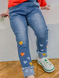Girls' Casual/Daily Embroidered Jeans-Cotton Summer Spring Fall