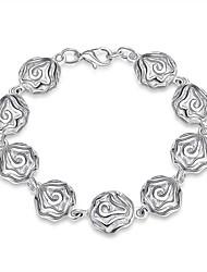Bracelet Chaînes & Bracelets Charmes pour Bracelets Bracelets de rive Cuivre Plaqué argent Forme de FleurAmitié Mode Vintage Bohême Style