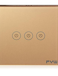 FYW Home Touch Remote Switch 3 Gang Intelligent Control Wall On