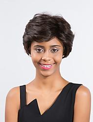 ätherisch reif dunkelbraune kurze Haare synthetische Perücke