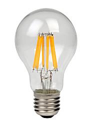 8W E27 Ampoules à Filament LED A60(A19) 8 COB 750 lm Blanc Chaud Blanc Froid AC 100-240 V 1 pièce