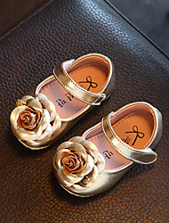 Baby Flats Spring Fall Comfort Flower Girl Shoes Leatherette Outdoor Casual Low Heel Magic Tape Dark Blue Champagne Walking