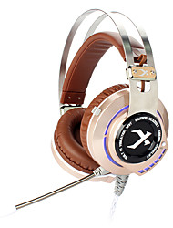 XIBERIA K2 Computer Gaming Headset with Microphone Glowing USB LED Headphone for PC Gamer Surround Sound Shake Ecouteur