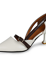 Women's Sandals Spring Summer Fall Other PU Office & Career Dress Casual Party & Evening Low Heel Others Beige Dark Brown