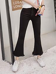 подписать 2017 года корейская версия девять очков джинсов женских оратора тонкие неровные края бахромой брюки Weila 9