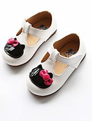 Extérieure Habillé Décontracté-Noir Rouge Blanc-Talon Bas-Flower Girl Chaussures-Ballerines-Gomme Similicuir