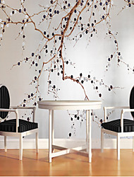 Art Deco Wallpaper For Home Wall Covering Canvas Adhesive required Mural Plum Blossom Branches Simple and Low Style XXXL(448*280cm)