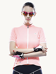 Mysenlan Cycling Jersey Women's Short Sleeve Bike Jersey Breathable Polyester Classic Summer