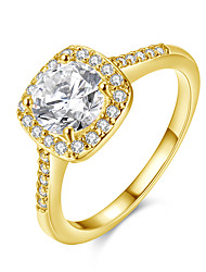 Austrian Crystal Wedding Ring Engagement Fashion Big Stone Rings For Women  Party Jewellery Anelli Donna Oro Rosa Akr002