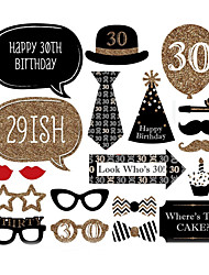 20pcs 30th Birthday Day Photo Booth Props Photobooth Party Decoration