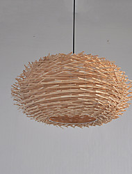 Pendant Light ,  Globe Wood Feature for Designers Wood/Bamboo Dining Room Entry Game Room Hallway
