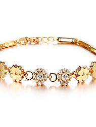 Chain Bracelet Zircon Simulated Diamond Alloy Fashion Luxury Jewelry Jewelry Gold Jewelry 1pc