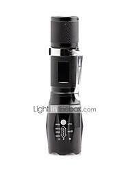 U'King ZQ-X1017B CREE XML T6 2000LM 5Modes Zoomable Flashlight Torch with Clip